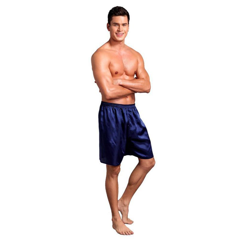 Men Pajama Shorts Sleep Bottoms Solid Lounge Short Pants Soft Summer Sleeping Shorts Home Pajama Pants Underwear Plus Size