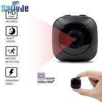 Minicámara 1080p de visión nocturna, cámara pequeña infrarroja de alta definición, detección de deportes al aire libre, grabadora aérea