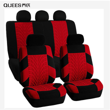 QUEES 4/9pcs Car Seat Cover Tire Indentation Seat Protection Cover Four Seasons General Auto Modeling Car Interior Accessories