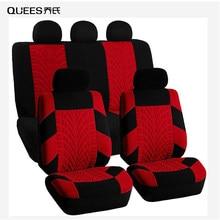 QUEES – housses de siège de voiture, 4/9 pièces, couverture de Protection de siège de voiture, quatre saisons, modélisation automobile générale, accessoires d'intérieur de voiture