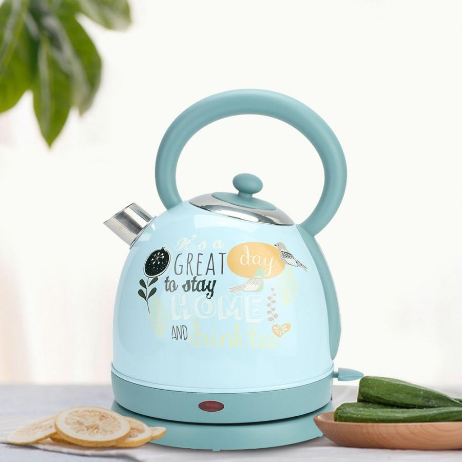 Cute Pattern Electric Kettle 1.7L Large Capacity Fast Boiling Hot Water Heating Flask AU Plug 220-240V Home Kitchen Appliances