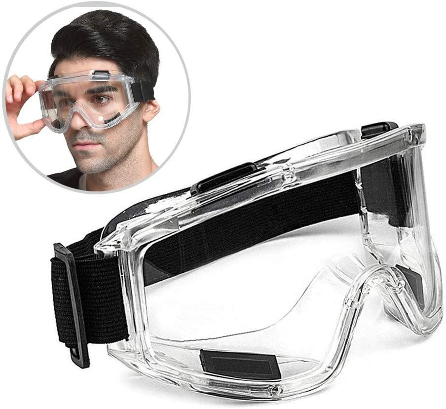 Óculos de segurança anti-respingo à prova de poeira à prova de vento trabalho laboratório eyewear proteção para os olhos pesquisa industrial óculos de segurança lente clara