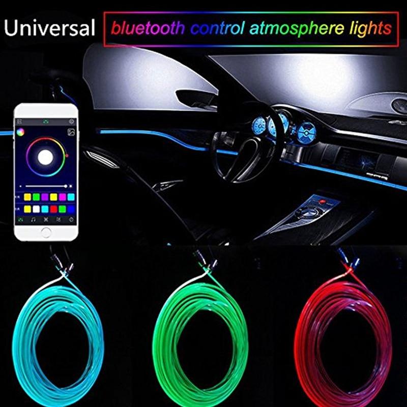 Couleur RGB LED USB Mini voiture sans fil d/'éclairage intérieur Atmosphère Lumiè