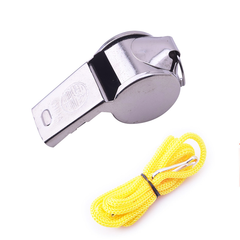 1PCS Metal Whistle Rugby Party Training Like Referee Sport Whistle School Soccer Football Outdoor Sports Whistle Wholesale