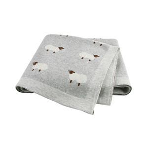 Image 1 - Baby Blankets Knitted Newborn Swaddle Stroller Bedding Wrap Cartoon Alpaca Infantil Boys Girls Receiving Blanket Children Quilts