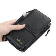 Fashionable Men's Long Wallet New Korean Zipper Phone Storage Wallet Multifunctional Designer Design Men's Coin Purse