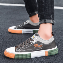 2020 New Comfortable Canvas Men Vulcanize Footwear Young Casual Shoes Anti-Slip Sneakers Fashion