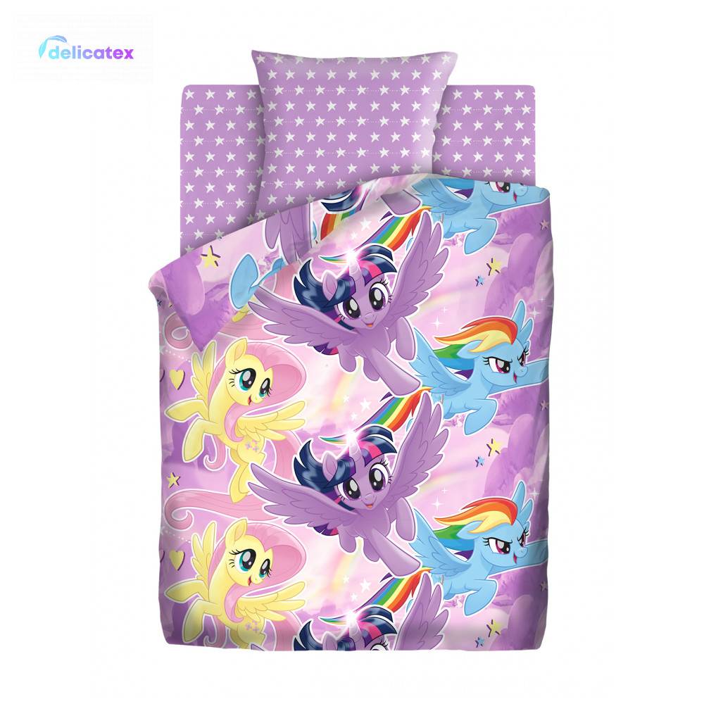 Bedding Sets Delicatex 8920-1+8921-1 Nebesnyie Poni Home Textile Bed Sheets Linen Cushion Covers Duvet Cover Baby Bumpers Cotton