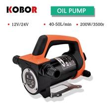 Mini Dc Electric Oil Pump 12v 24v 200w 40l/min High Speed Oil Pump Diesel Kerosene Water Pump Water Diesel Transportation dc transfer oil pump 24v electric diesel oil pump fp 24