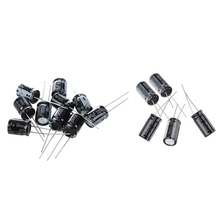 15Pcs 105℃ Radial Electrolytic Capacitor — 5Pcs 25V 1000UF 10X20Mm & 10Pcs 16V 1000UF 10 x 13Mm