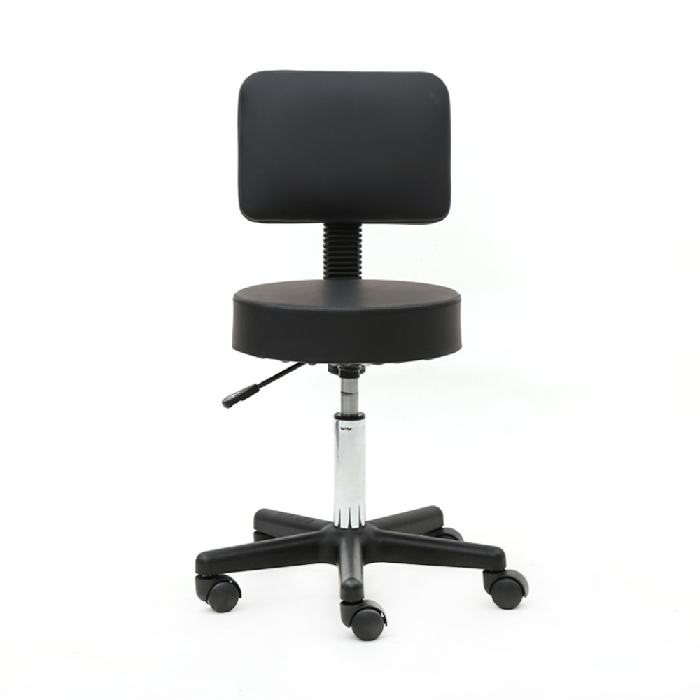 【UK Warehouse】Round Shape Plastic Adjustable Salon Stool With Back Black {Free Shipping UK} Drop Shipping*