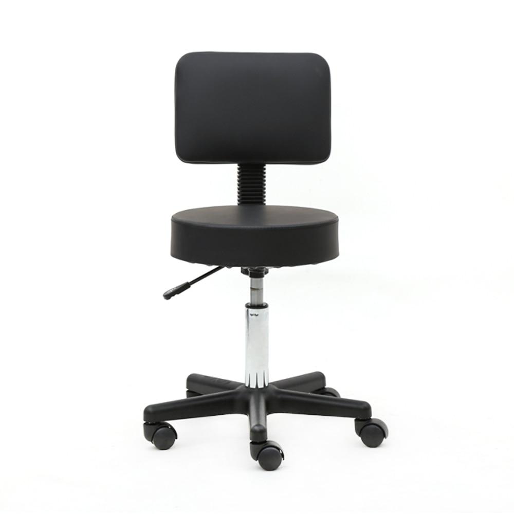 【UK Warehouse】Round Shape Plastic Adjustable Salon Stool With Back Black {Free Shipping UK} Drop Shipping*