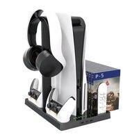 Soporte para consola Sony PS5 Play Station PS 5, controlador de carga, ventilador de refrigeración, Accesorios de Control