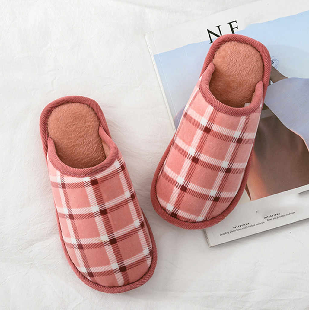 Mens Women's Couples Warm Non-slip Hot Sale Natural Home Slippers Indoor Floor Shoes Silent Sweat Slippers For winter Women