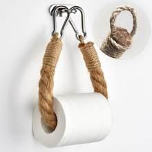 Corda de cânhamo artesanal retro tecido titular titular rolo higiênico criativo parede pendurado 40/50/60/70cm
