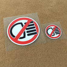 цена на CDCOTN Auto Car Stickers Stop High Beam Warning Reflective Tuning PVC Stickers Round Fun Car Motorcycle Body Decals Car Styling