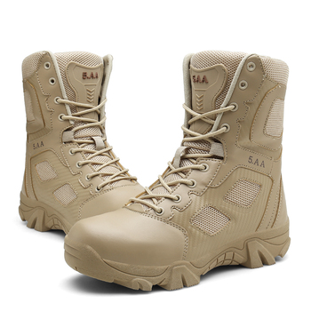 Combat Boots for Men Desert Tactical Military Boots Army Combat Boots Mens Working Safty Shoes Militares Men Boots ultralight men army boots military shoes combat tactical ankle boots for men desert jungle boots outdoor shoes size 35 46