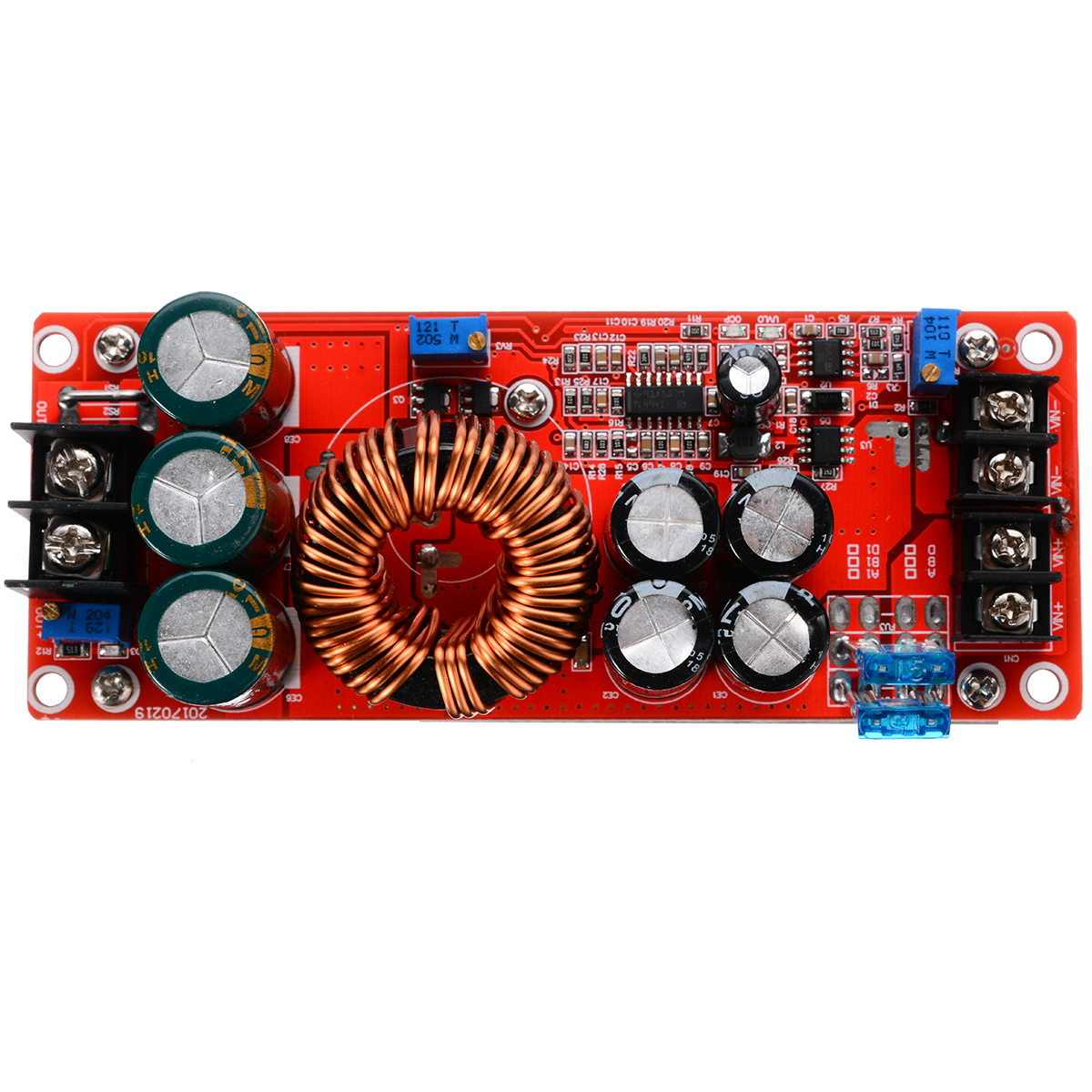 1pc New Adjustable 1200W Power Supply Module 150 KHz 20A DC Converter Boost Module Step-up In 8-60V 12-83V