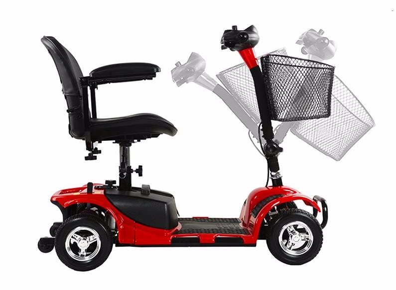 Electric Scooter For Elderly Four Wheels Electric Scooters 8 Inch 24V 250W Electric Kick Scooter For AdultsDisabled (19)