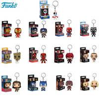 FUNKO POP llavero Marvel Super Hero personajes de Anime Pop Original PVC figura de acción modelo coleccionable juguetes para niños para regalos F85