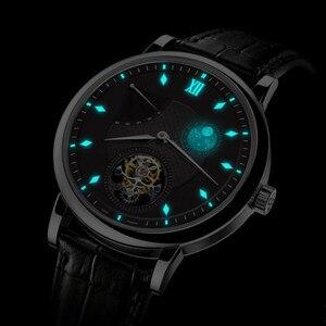 Image 3 - سوبر BGW9 مضيئة الأيدي توربيون الرجال ساعة الأصلي ST8001 التقويم القمر المرحلة توربيون الرجال ساعات آلية التمساح