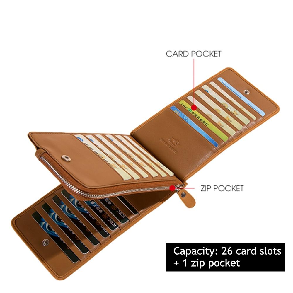 Image 2 - BISON DENIM Wallets Genuine Leather Card Holder Wallet Men Cowhide Weaving Zipper Coin Purse for Men Women carteira  N9301Wallets   -