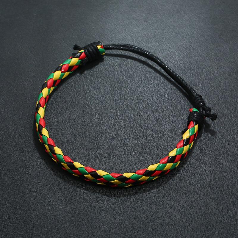 BLUESTAR Fashion design Retro Styles Braided Ethnic Tribal Handmade Leather Bracelets For Men Women DIY bracelet jewelry
