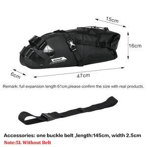 Image 4 - Rhinowalk 10L 13L Volledige Waterdichte Fiets Zadeltas Road Mountainbike Fietsen Rear Rack Bag Bagage Fietstas Fiets Accessoires