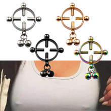 2pcs Fake Nipple Ring Non Piercing Breast Nail Stainless Steel Screw Shield Clamp Adult Game for Women Sexy Body Jewelry Gift