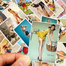 25 Pcs Classic World War II Pin up Girls New Anime Stickers for Laptop Bicycle Car DIY Wall Waterproof PVC Sexy Sticker