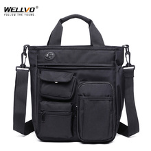 Multifunctional Office Messenger Bag with Headphone Hole Waterproof Nylon Travel Handbag Shoulder Bag Men Leisure Bag XA11ZC