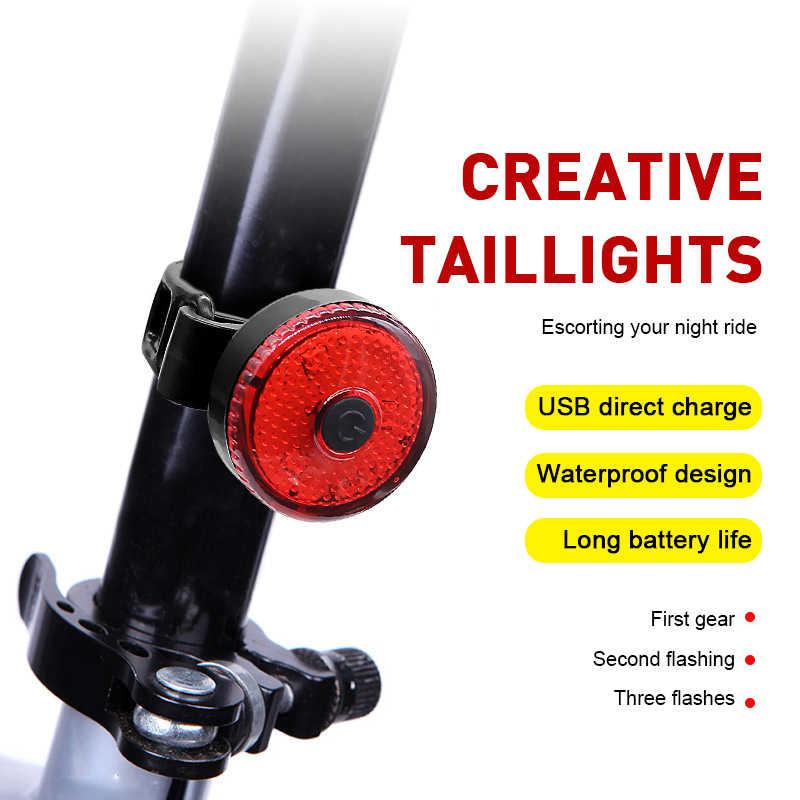 Fanale posteriore a LED Luce lampeggiante posteriore di sicurezza per bicicletta Torcia posteriore per bicicletta Avvertimento Luce lampeggiante rossa Avvertimento MTB impermeabile per bici da strada