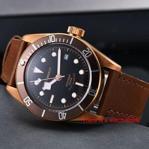 Image 2 - Corgeut 41 ミリメートル自動腕時計メンズダイヤル腕時計革ストラップ発光防水スポーツ水泳機械式時計