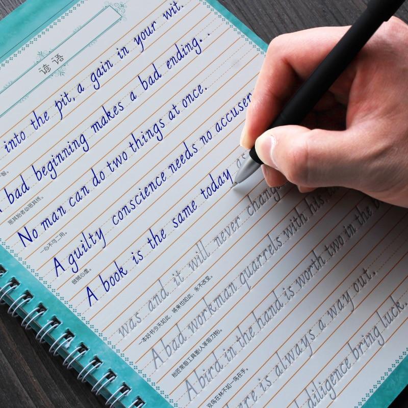3pcs Adultt English Calligraphy Copybook Kids Writing beginner Handwriting English Student Art Suppl