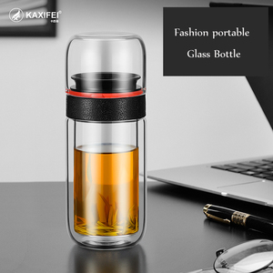 Glass Tea Water Bottle with In