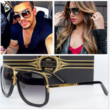 Fashion Vintage Driving Cool Gradient Twin-Beams Square Sunglasses