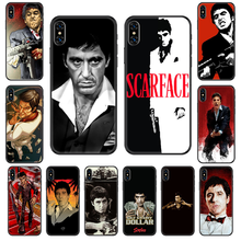 Tony Montana Scarface Phone case For iphone 4 4s 5 5S SE 5C 6 6S 7 8 plus X XS XR 11 PRO MAX 2020 black painting coque silicone