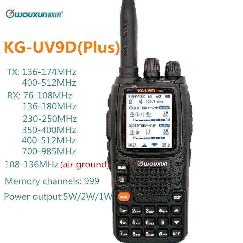 Wouxun KG-UV9D Plus Walkie Talkie Air Band 108-136MHz Police Band 350-390MHz Multibands Ham CB Radio Transceiver Kg Uv9d Plus