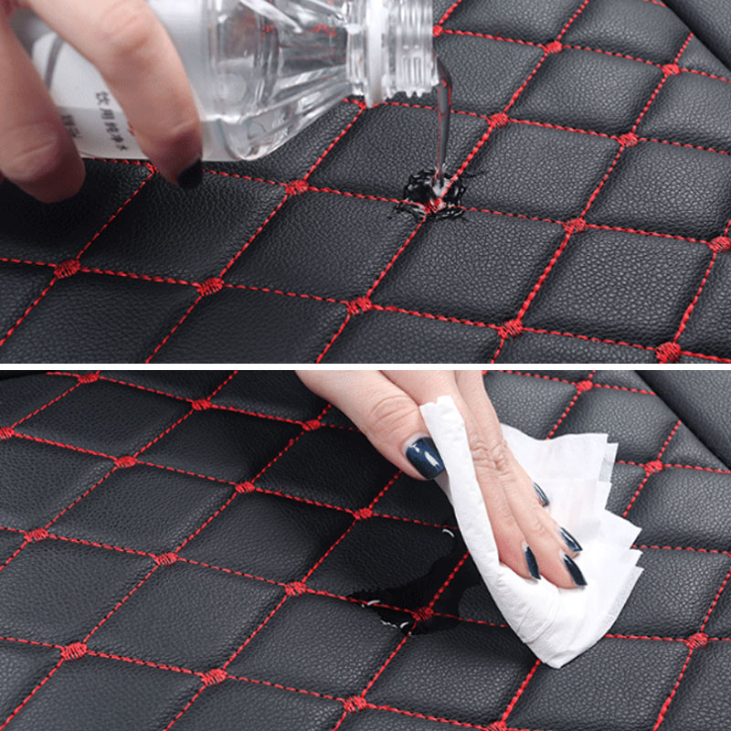 Leather Car Seat Cover Universal 5 Seats Waterproof Auto Front Rear Back Chair Seat Cushion for SUV Vehicle Car Seat Protector - 6