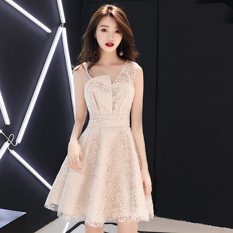 2020 Real Bridesmaid Dresses Long Easy Bridesmaid Dresses Show Thin Students Dress Small Fairy Maiden Temperament Party Evening
