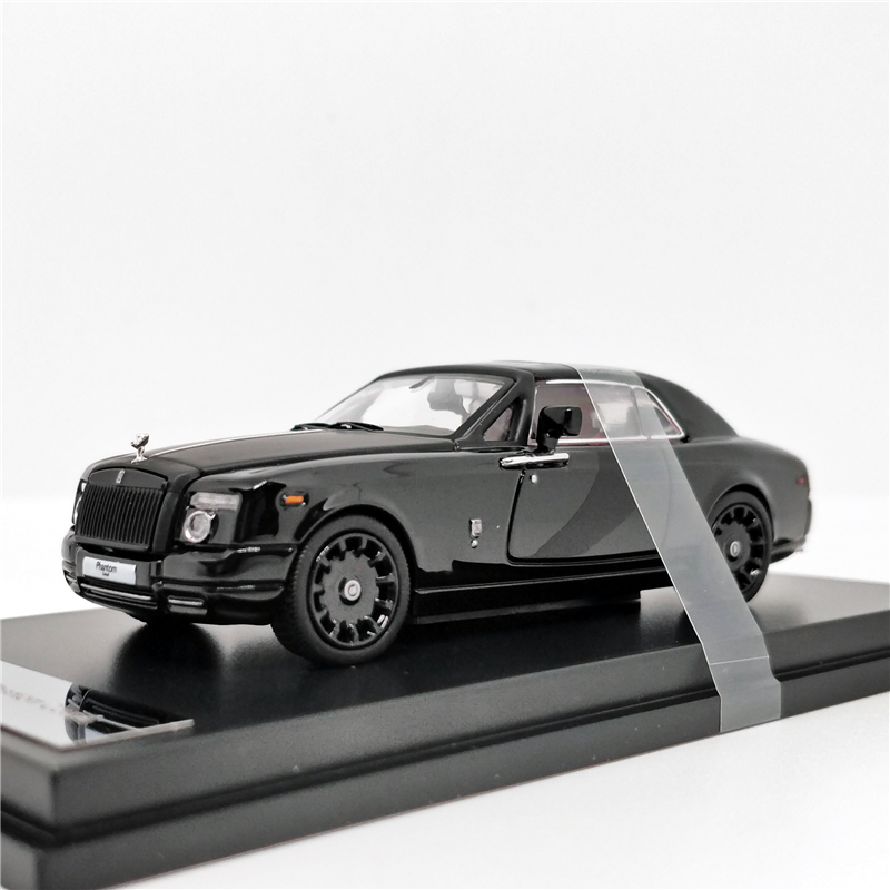 1:64 Rolls Royce Rolls Royce Phantom Coupe Black W/ Matte Hood Diecast Model Car