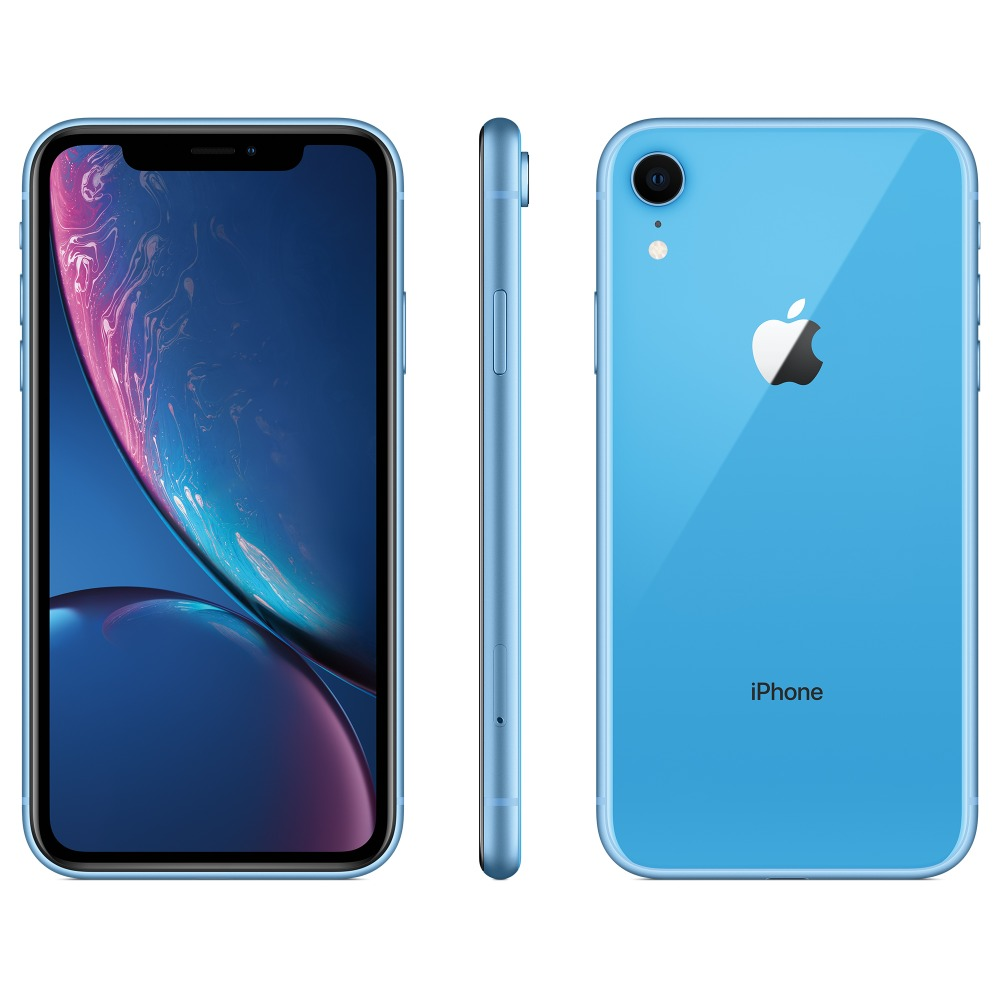 "Original New Apple iPhone XR 6.1"" Liquid Retina Display 4G LTE IOS Smartphone FaceID 12MP Camera IP67 Waterproof for Outdoor"
