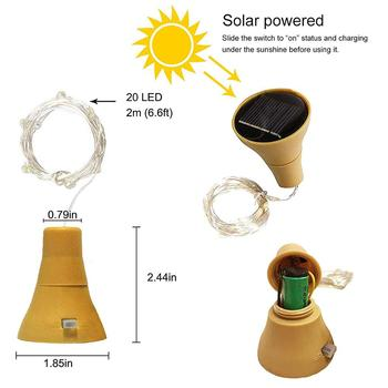 5 packs solar powered wine bottle