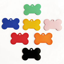 Dog-Id-Tags Double-Sides Name-Phone Puppy-Name Cat Phone-No.-Pet Customized Bone 1pc