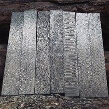 5 types en acier Damas BRICOLAGE couteau Faisant Du Matériel Rose Sandwich Motif en acier lame de Couteau a été Le Traitement Thermique