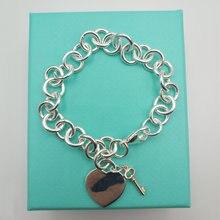 1: 1s925 браслет из стерлингового серебра классический ретро