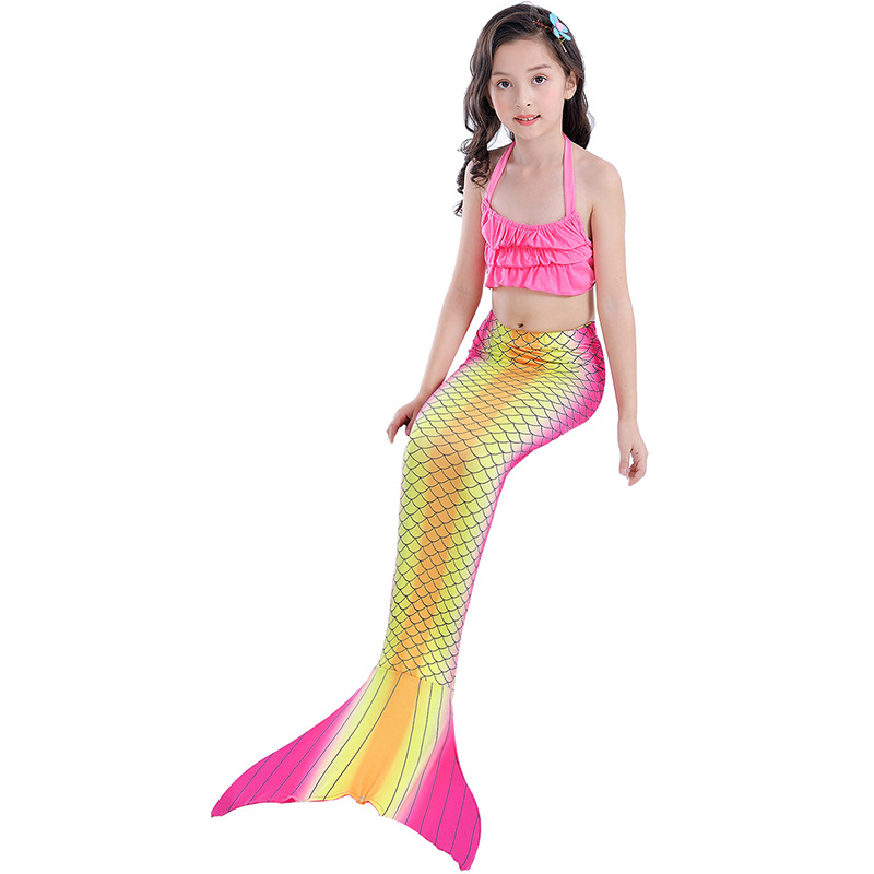 Mermaid GIRL'S Swimsuit Mermaid Tail CHILDREN'S Swimwear Mermaid Clothing COS Gift Can Be Installed Swim Fins