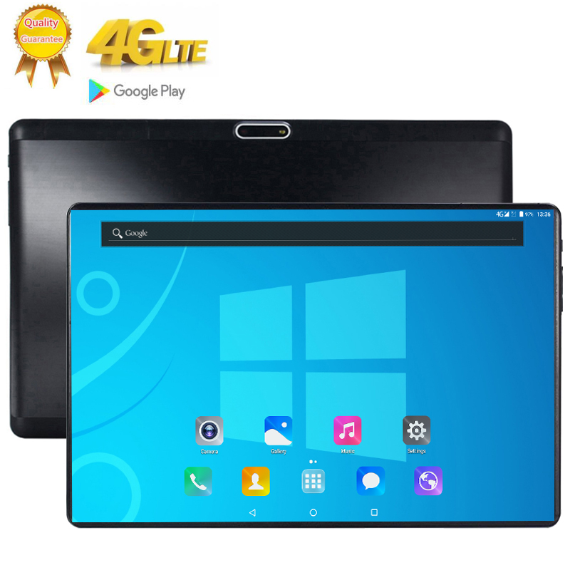 10.1Inch Tablet Google Store 10 Core 8GB RAM 128GB ROM 4G LTE Android 9.0 Tablet GPS WIFI 2560*1600 IPS Tablet Pad Glass Screen