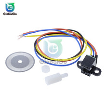 Photoelectric Speed Sensor Encoder Coded Disc Code Wheel For Smart Car 5V For Arduino trd n1024 rz encoder solid shaft rotation speed photoelectric encoder new in box free shipping