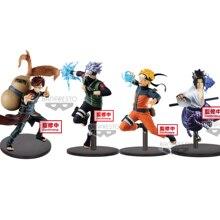 Tronzo original vibração estrelas naruto shippuden, naruto, sasuke, kakashi gaara, versão de batalha, brinquedos de pvc
